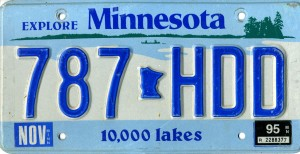 Minnesota License Plate Data