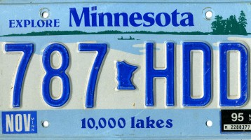 Minnesota License Plate Data